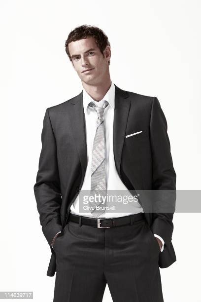 Tennis player Andy Murray is photographed for a portrait shoot on March 23 2010 in London England