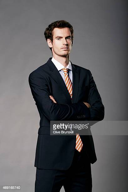Tennis player Andy Murray is photographed on February 17 2015 in London England