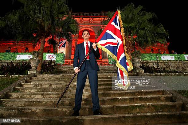 Tennis player Andy Murray of Great Britain is announced as the flag bearer for Team GB at the British House Reception ahead of the Rio 2016 Olympic...