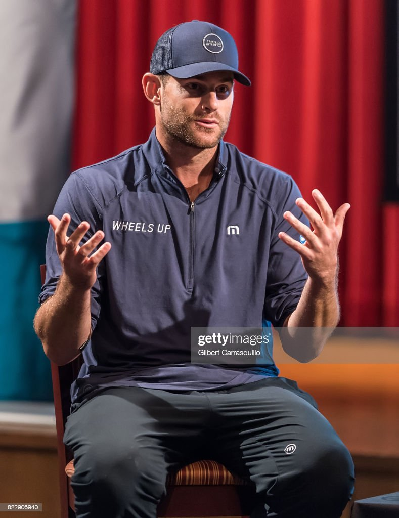 Tennis player Andy Roddick attends A Conversation With Billie Jean King & Andy Roddick benefiting the AmerisourceBergen Foundation during the 2017 Mylan World TeamTennis at Mandeville Hall at St. Joseph's University on July 25, 2017 in Philadelphia, Pennsylvania