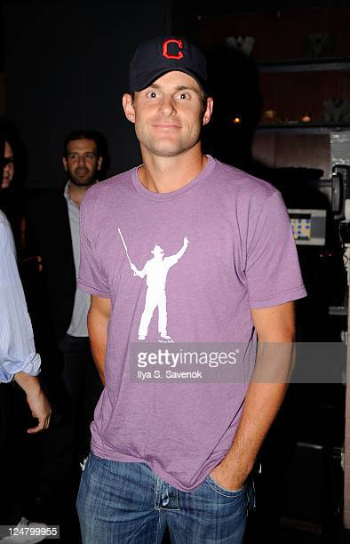 US tennis player Andy Roddick attends the James Blake Foundation Annual Charity Event at Las Chicas Locas on September 12 2011 in New York City