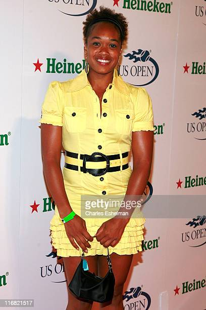 Tennis player Angela Haynes the US Open USTA/Heineken Premium Light Players Party at the Empire Hotel on August 22, 2008 in New York City.
