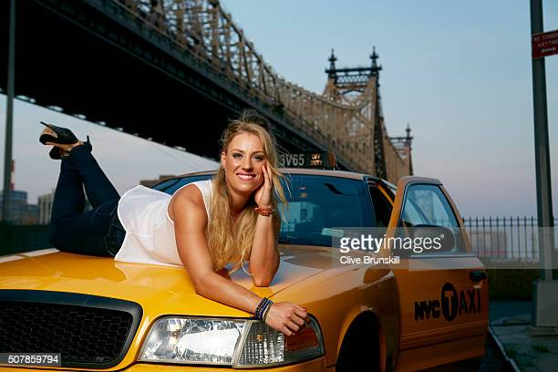 Tennis player Angelique Kerber is photographed on August 10 2012 in New York City