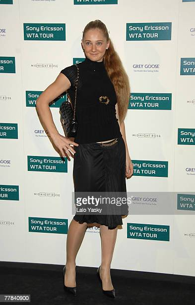 Tennis player Anna Chakvetadze arrives to Sony Ericsson Championship Party at ME Hotel on November 10 2007 in Madrid Spain