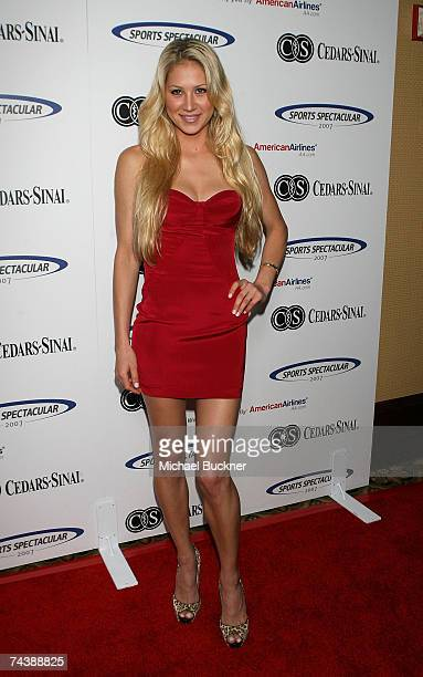 Tennis player Anna Kournikova arrives at the 22nd Annual Sports Spectacular at the Hyatt Regency Century Plaza on June 3 2007 in Century City...