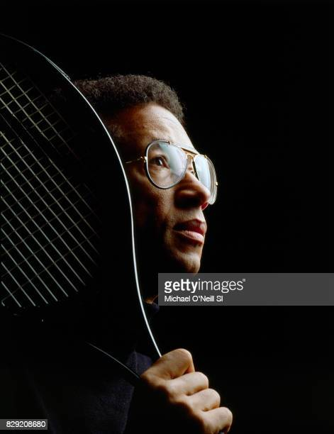 Tennis player Arthur Ashe is photographed for Sports Illustrated on December 1, 1992 in New York City. CREDIT MUST READ: Michael O'Neill/Sports...