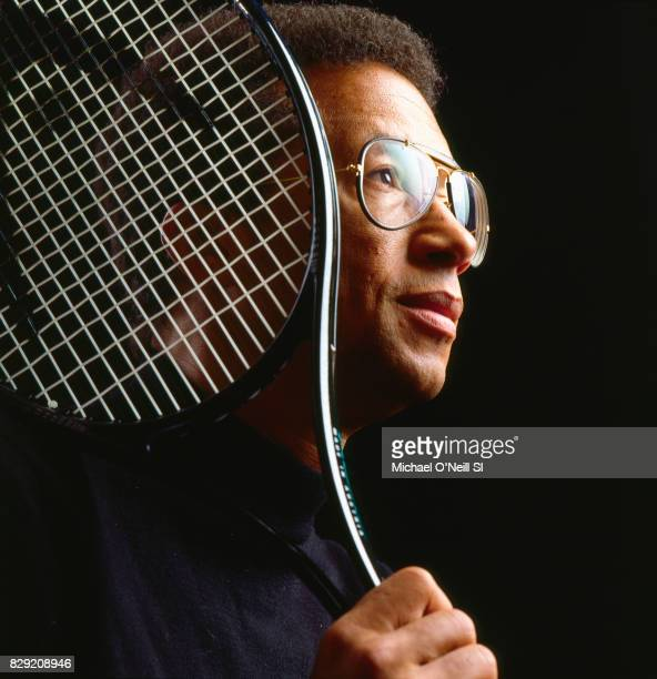 Tennis player Arthur Ashe is photographed for Sports Illustrated on December 1 1992 in New York City CREDIT MUST READ Michael O'Neill/Sports...