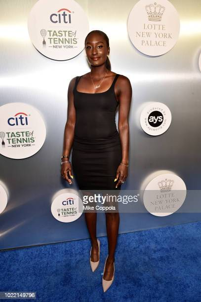 Tennis player Asia Muhammad attends the Citi Taste Of Tennis gala on August 23 2018 in New York City