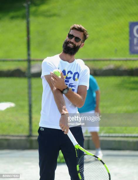 Tennis Player Benoit Paire attends the LACOSTE And City Parks Foundation Host Tennis Clinic In Central Park on August 27 2017 in New York City