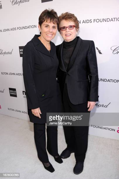 Tennis player Billie Jean King and Marilyn Barnett attends the 21st Annual Elton John AIDS Foundation Academy Awards Viewing Party at West Hollywood...