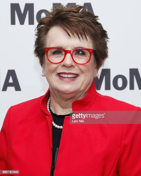 Tennis player Billie Jean King attends MOMA's Contenders Screening of 'Battle of the Sexes' at MOMA on December 18 2017 in New York City