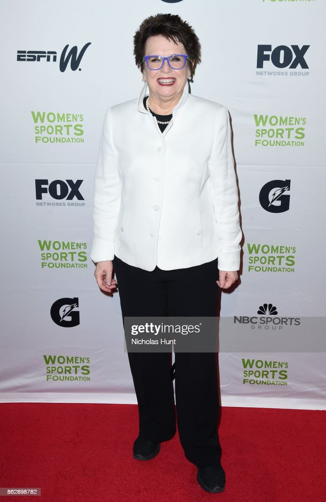 Tennis player Billie Jean King attends the The Women's Sports Foundation's 38th Annual Salute To Women in Sports Awards Gala on October 18, 2017 in New York City.