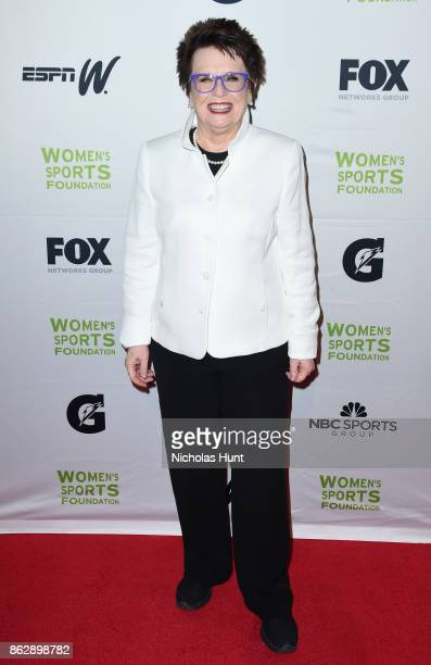 Tennis player Billie Jean King attends the The Women's Sports Foundation's 38th Annual Salute To Women in Sports Awards Gala on October 18 2017 in...
