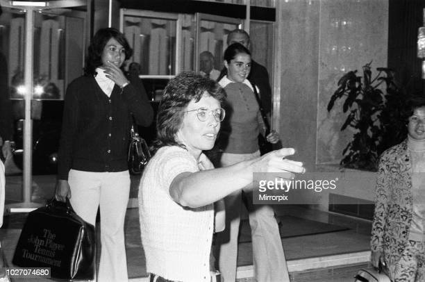 Tennis player Billie Jean King pictured at the Women's Tennis Association meeting held at the Gloucester Hotel. 21st June 1973.