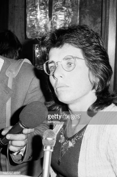 Tennis player Billie Jean King pictured at the Women's Tennis Association meeting held at the Gloucester Hotel 21st June 1973