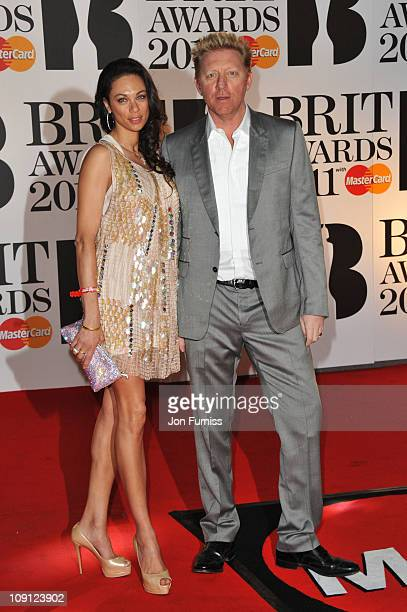 Tennis player Boris Becker and his wife Sharlely Becker attend The BRIT Awards 2011 at O2 Arena on February 15, 2011 in London, England.