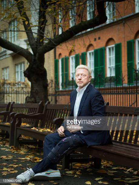 Tennis player Boris Becker is photographed for Stern magazine on November 13 2019 in London England