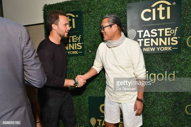 Tennis player Bruno Soares and Masaharu Morimoto attend the Citi VIP Lounge at Taste Of Tennis at W New York on August 24 2017 in New York City