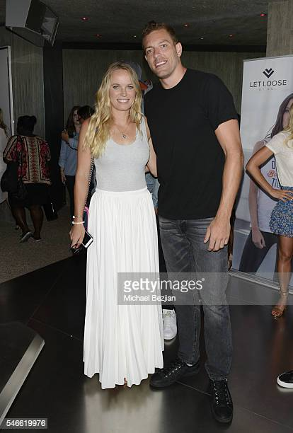 Tennis Player Caroline Wozniacki and NBA Player David Lee attend 2016 ESPYs Talent Resources Sports Luxury Lounge on July 12 2016 in Los Angeles...