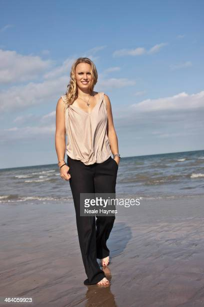 Tennis player Caroline Wozniacki is photographed on June 12 2010 in Brighton England