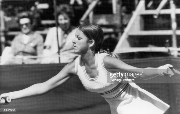US tennis player Chris Evert in action Original Publication People Disc HC0024