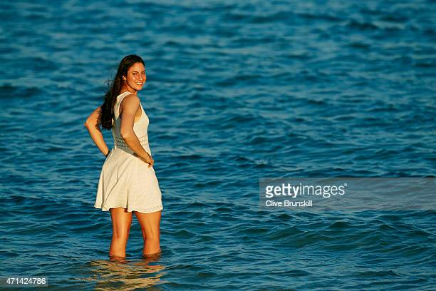 Tennis player Christina McHale of the United States poses during a portrait session on March 22 2015 in Key Biscayne Florida