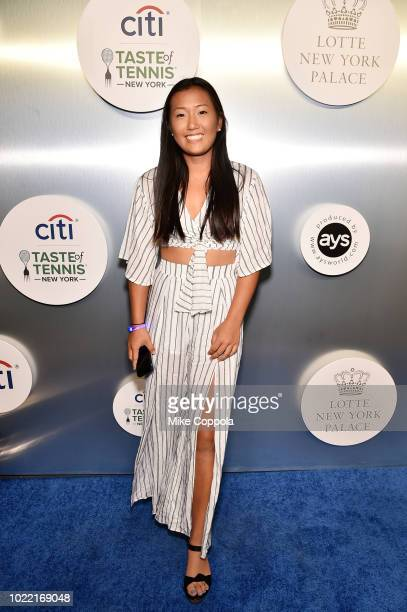 Tennis player Claire Liu attends the Citi Taste Of Tennis gala on August 23 2018 in New York City
