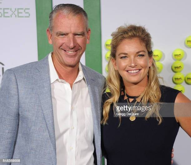 Tennis player CoCo Vandeweghe and Bruk Vandeweghe arrive at the premiere of Fox Searchlight Pictures' 'Battle Of The Sexes' at Regency Village...