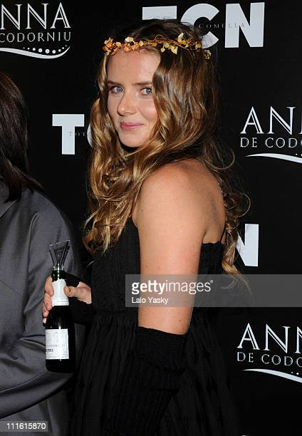 Tennis player Daniela Hantuchova presents the TCN collection held at Florida Park club on February 10 2008 in Madrid Spain