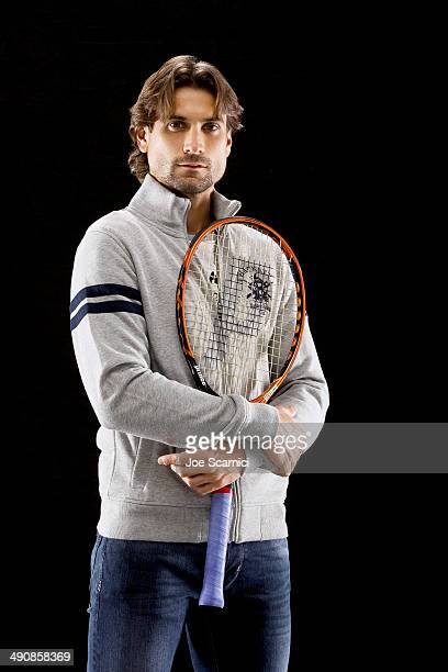 Tennis player David Ferrer is photographed for Self Assignment on December 17, 2013 in Madrid, Spain.