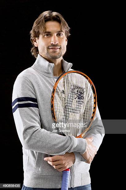 Tennis player David Ferrer is photographed for Self Assignment on December 17 2013 in Madrid Spain