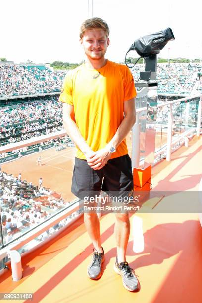 Tennis player David Goffin poses during the 2017 French Tennis Open Day Four at Roland Garros on May 31 2017 in Paris France