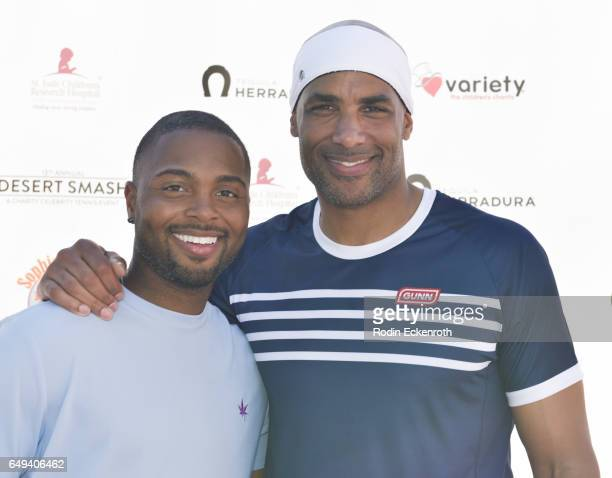 Tennis player Donald Young and actor Boris Kodjoe arrive at 13th Annual Desert Smash benefitting St Jude Children's Research Hospital on March 7 2017...
