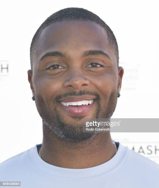 Tennis player Donald Young arrives at 13th Annual Desert Smash benefitting St Jude Children's Research Hospital on March 7 2017 in Rancho Mirage...