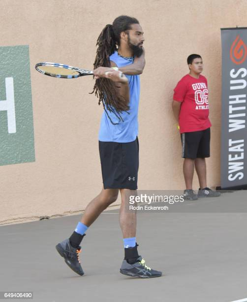 Tennis player Dustin Brown plays at 13th Annual Desert Smash benefitting St Jude Children's Research Hospital on March 7 2017 in Rancho Mirage...