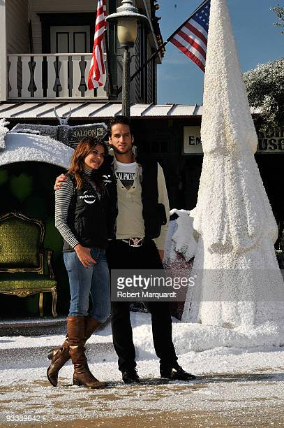 Tennis player Feliciano Lopez and Maria Jose Suarez attend the Christmas Season opening at Portaventura on November 25 2009 in Barcelona Spain
