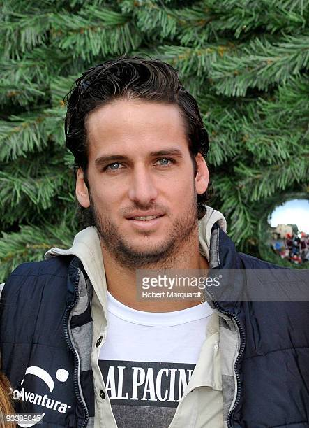 Tennis player Feliciano Lopez attends the Christmas Season opening at Portaventura on November 25 2009 in Barcelona Spain