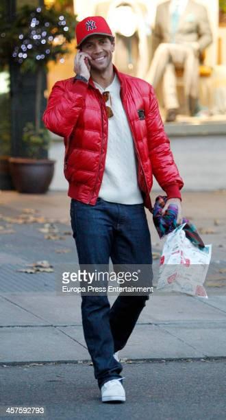 Tennis player Fernando Verdasco is seen Christmas shopping on December 17, 2013 in Madrid, Spain.