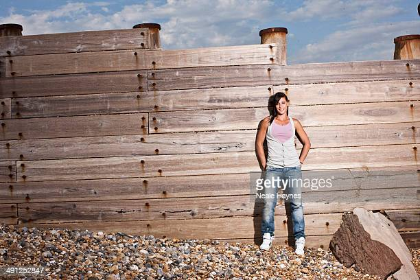 Tennis player Flavia Pennetta is photographed in Brighton, England.