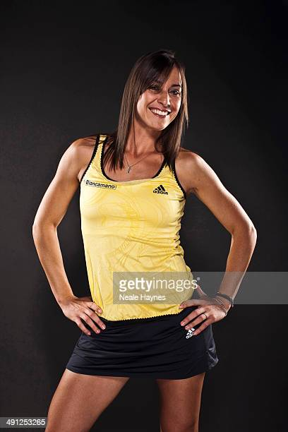 Tennis player Flavia Pennetta is photographed in Brighton England