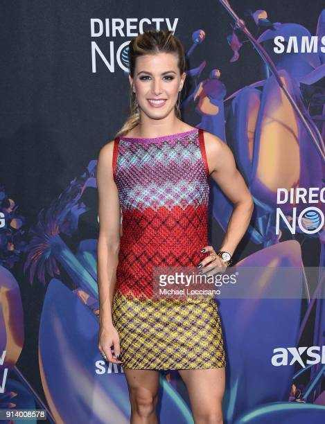 Tennis player Genie Bouchard attends the 2018 DIRECTV NOW Super Saturday Night Concert at NOMADIC LIVE at The Armory on February 3 2018 in...