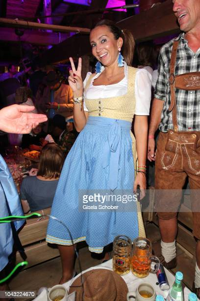 Tennis Player grand slam winner Iva Majoli during the Oktoberfest 2018 at Kaeferschaenke tent Theresienwiese on September 29 2018 in Munich Germany