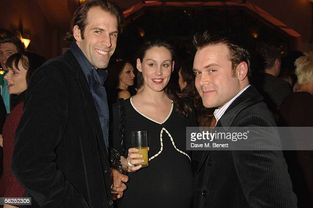 Tennis player Greg Rusedski his wife Lucy and singer Daniel Bedingfield attend the backstage party following Darius Danesh's first night playing the...