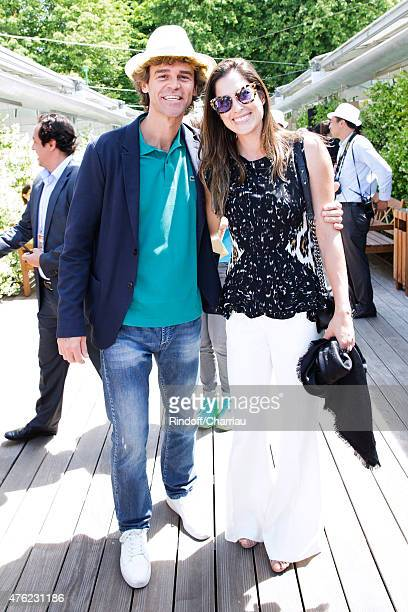 Tennis Player Gustavo Kuerten and his wife Mariana Soncini attend the Men Final of 2015 Roland Garros French Tennis Open - Day Fithteen, on June 7,...