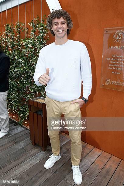Tennis player Gustavo Kuerten attends Day Thirteen of the 2016 French Tennis Open at Roland Garros on June 3 2016 in Paris France