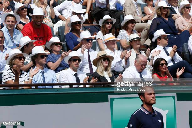 Tennis Player Gustavo Kuerten Cochairman of the Organizing committee of the Olympic Games of Paris 2024 and Canoe Olympic champion Tony Estanguet...