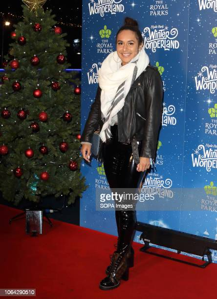 Tennis player Heather Watson at the Hyde Park Winter Wonderland VIP launch British celebrities gather at Hyde Park for the VIP Launch of Hyde Park...