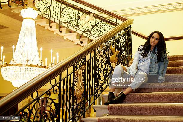 Tennis player Heather Watson is photographed at Stoke Park Country Club on April 19 2016 in Maidenhead England