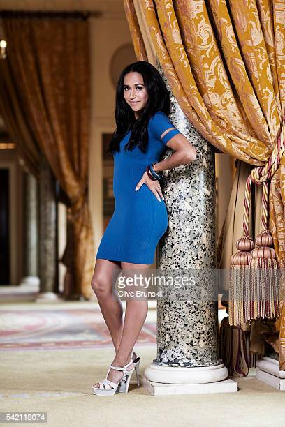Tennis player Heather Watson is photographed at Stoke Park Country Club on April 19 2016 in Maidenhead England Dress Alexander Wang Shoes Saint...