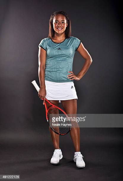 Tennis player Heather Watson is photographed in Brighton England